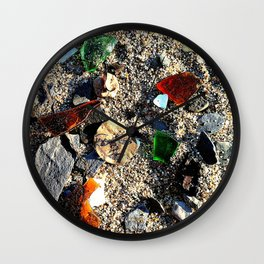 Lady in the Sand Wall Clock