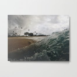 Storms bring the waves Metal Print
