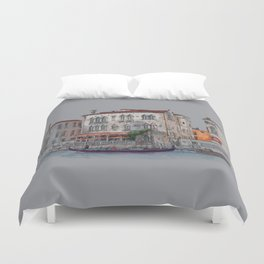 Evening in Italy Duvet Cover