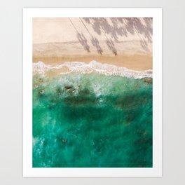 Ocean Love Cabo Aerial View Art Print