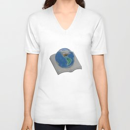 The World in Pages Unisex V-Neck