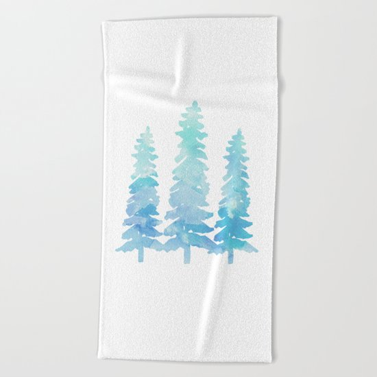 Tahoe Trees  Beach Towel
