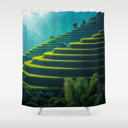 One Step at a Time Shower Curtain