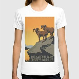 Vintage poster - National Parks T-shirt