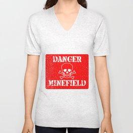 Danger Minefield Unisex V-Neck