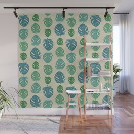 Monstera color scale Wall Mural