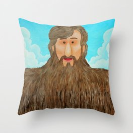 Jim's Amazing Beard Throw Pillow