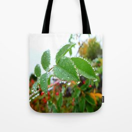 Nature's Beads of Beauty Tote Bag