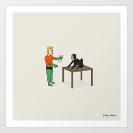 Cat Training Art Print