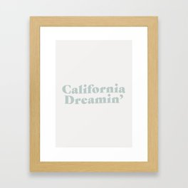 California Dreaming - Blue Framed Art Print