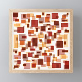 Red Abstract Rectangles Framed Mini Art Print