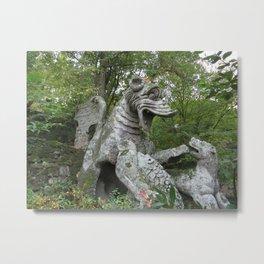 Bomarzo Dragon Metal Print
