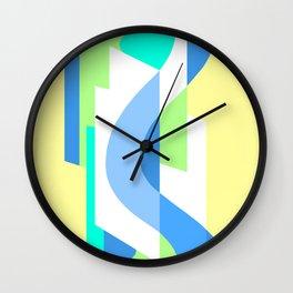 SUISSE - Art Deco Modern: FRESH WATER & SUNSHINE Wall Clock