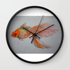 Goldfish Pond (close up #9) Wall Clock