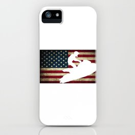 Jet Ski USA Flag Athletic Beach Summer Sports iPhone Case