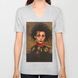 Edward Scissor Hands General Portrait Unisex V-Neck