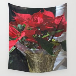 Poinsettia - Euphorbia pulcherrima Wall Tapestry