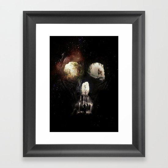 Cave Skull Framed Art Print