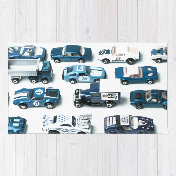 Its A Parking Lot Out There Blue Rug By Jeanladzinski Society6