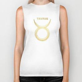 Taurus Zodiac Sign Biker Tank