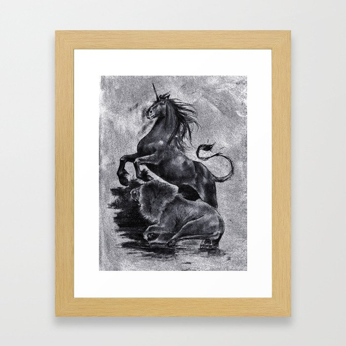 The Savage and The Untamed Framed Art Print