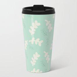 Leaves in blue Travel Mug