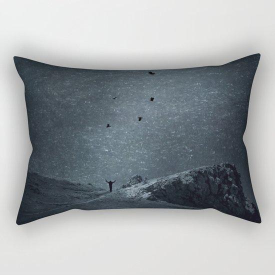 edge of always - dark blue Rectangular Pillow