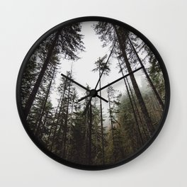 Pacific Northwest Forest Wall Clock