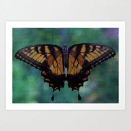 Monarch Butterfly on My Screen Art Print