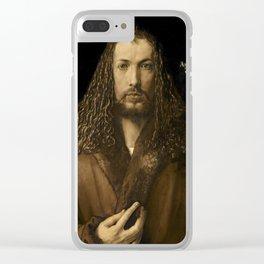 Albrecht Durer - Self- portrait at the age of twenty - eight Clear iPhone Case