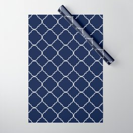 Navy Blue Moroccan Minimal Wrapping Paper
