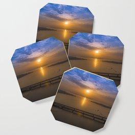 Sunrise Over Bridges Coaster