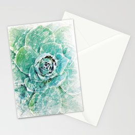 Greenery on Succulent Stationery Cards