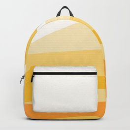 Abstract Landscape 09 Yellow Backpack