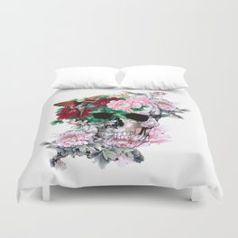 BIRDS ON SKULL Duvet Cover