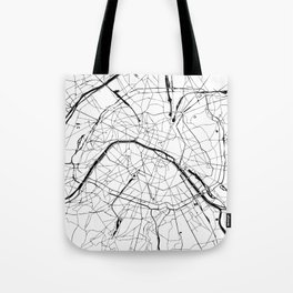 Paris Minimal Map Tote Bag