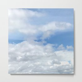 Soft Heavenly Clouds Metal Print