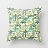 insects Throw Pillows featuring Insects by nkpappas