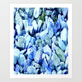 Blue Rocks Art Print
