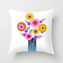 Floral Potpourri Throw Pillow