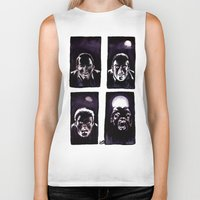 howl Biker Tanks featuring Howl by Zombie Rust