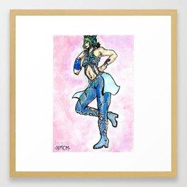 JOLYYYYNEEEEEEEE aka Mariposa de barrio Framed Art Print
