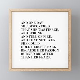 And one day she discovered Framed Mini Art Print
