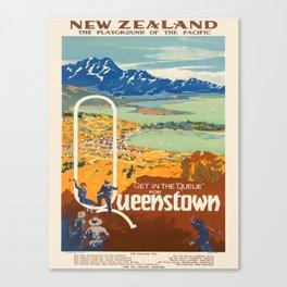 Vintage poster - New Zealand Canvas Print