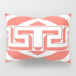 GEOMETRIC PATTERN IN LIVING CORAL Pillow Sham
