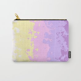 Abstract Geometric design with Unicorn Colors Carry-All Pouch