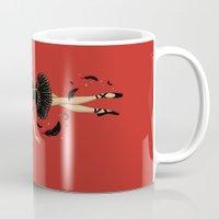black swan Mugs featuring Black Swan by Enkel Dika