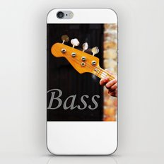 Bass Guitar neck , musical instrument  iPhone Skin