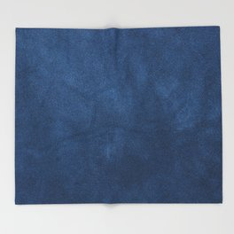 Blue leather texture Throw Blanket