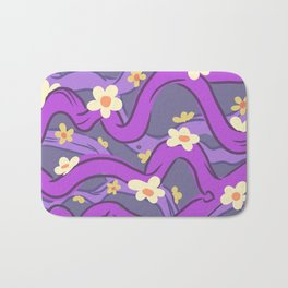 purple vines Bath Mat